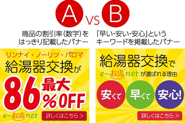 リマーケティング広告を2種類のバナーでABテスト